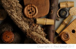 Holz als Knopfmaterial
