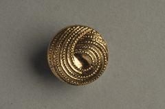 Glasknopf goldfarben, Schlaufendesign KGOG 64sg01-28