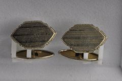 Manschettenknopf Alpaka silberfarben (Paar) KMAL M1sf03-30