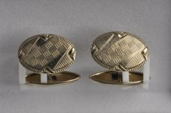 Manschettenknopf Alpaka silberfarben (Paar) KMAL M1sf08-28