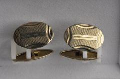 Manschettenknopf Alpaka silberfarben (Paar) KMAL M1sf11-28