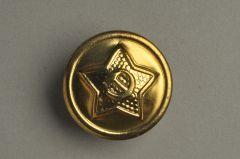 Russischer Uniformknopf aus Messing, 22,9mm (36-linig) goldfarben. KMMB 04gf01-36