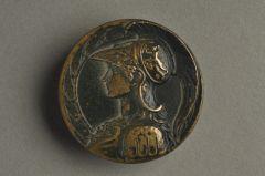Antiker Messingknopf Römischer Offizier KMMB 05mgE1-43