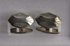 Manschettenknopf Alpaka versilbert (Paar) KMAL M1vs05-30