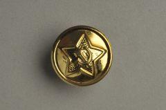 Russischer Uniformknopf aus Messing, 17,8mm (28-linig) goldfarben. KMMB 04gf01-28