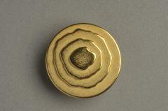 Vergoldeter Zinkgussknopf, bombiert, terassiert 22,2mm (35-linig) KMZN 94vg01-35