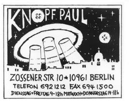 Öffnungszeiten Paul Knopf