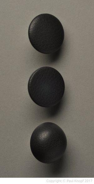 Runde Knopfformen Bombé, Flach und Kugel
