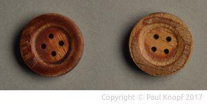 Knöpfe aus Propellerholz