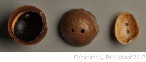 Makadamia- und Pistatienschalenknopf