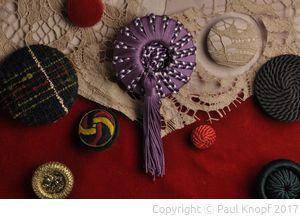 Textilien als Knopfmaterial